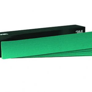 "3M 2.75"" x 16.5"" 246U / 251U Stikit Green Corps Production Sandpaper Sheets"