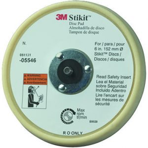 "3M 6"" Stikit Low Profile Finishing Backup Pad PN# 05546"