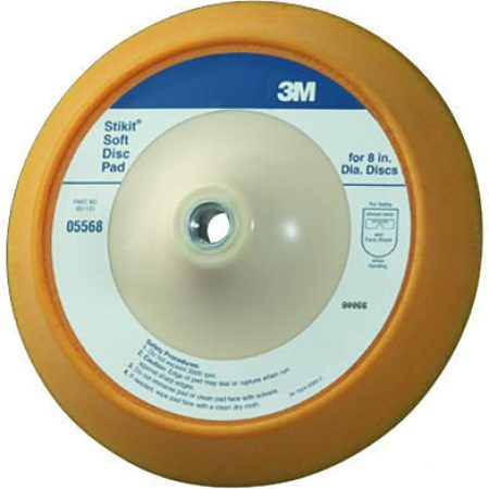 "3M 8"" Stikit Soft Backup Pad PN# 05568"