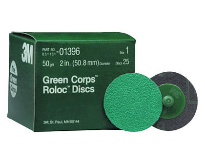 "3M 2"" 264F Green Corps Roloc Grinding Discs"