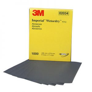 "3M 9"" x 11"" 401Q Imperial Wetordry ""A"" Weight Sandpaper"