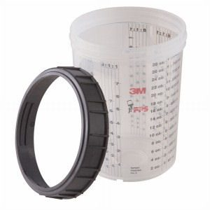 3M Paint Preparation System Large Cup & Collar PN# 16023