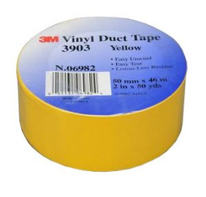3M Vinyl Duct Tape Yellow #3903
