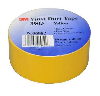 3M Vinyl Duct Tape Yellow #3903