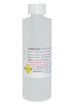 Clear M.E.K.P. Resin Catalyst Bottles
